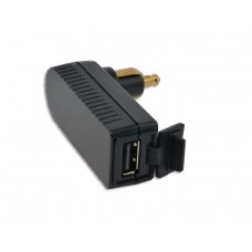 Right Angle DIN Plug with 2 amp USB Charger