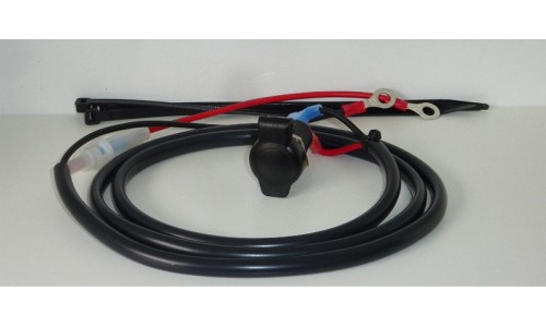 12V Heavy Duty 16A DIN Socket with 1.2 m Wiring Harness