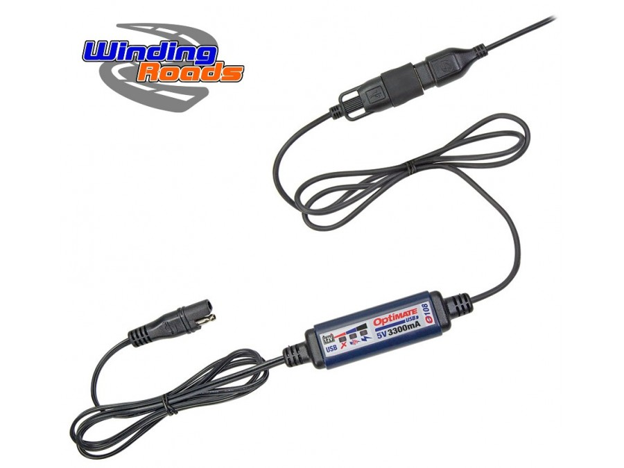 optimate 3 3a usb charger  sae connection