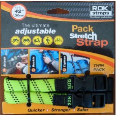 ROK Straps - Adjustable Motorcycle Luggage Strap - Twin Pack - Small