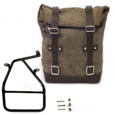 Single Side Waxed Suede Pannier & Frame for BMW R NineT from Unit Garage
